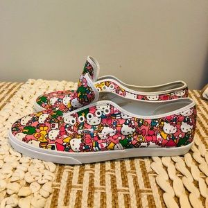 Hello Kitty Vans Canvas Shoes Women's Size 10.5